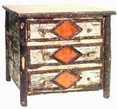 birch hickory dresser 6 drawer dresser diamond pattern birch bark hickory trim o size 50 long x 24 deep x 34 high price 3750 plus freight bark furniture