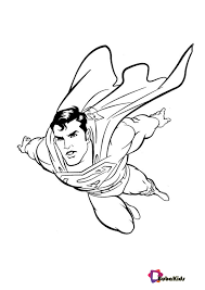 The superman character was created in 1932 (as batman), but appeared in comics 6 years later. Superman Printable Coloring Pages On Bubakids Com Coloring Coloring Sheet Pages Su Superman Coloring Pages Superhero Coloring Pages Avengers Coloring Pages