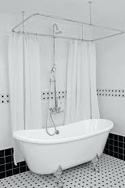 clawfoot shower hotel collection acrylic french tub and shower clawfoot tub shower curtain rod canada clawfoot shower