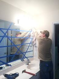 remove mirror glued to wall how to safely and easily remove a large builder bathroom mirror