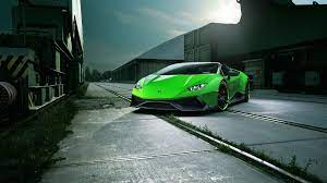 Green Wallpaper Chrome Lamborghini
