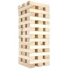 extra large jenga nontraditional giant wooden blocks tower stacking game outdoor yard by hey play garden