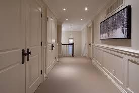 antique bronze door knobs. Example Of A Classic Carpeted And Gray Floor Hallway Design In Toronto With White Walls Antique Bronze Door Knobs O