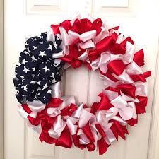 DIY Patriotic Ribbon Wreath