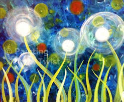 painting with a twist delightful dandelions