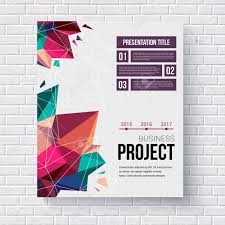stylish page presentation brochure template title page with a stylish geometric