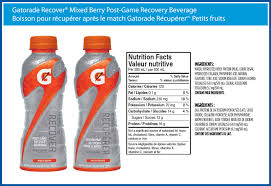gatorade recover mixed berry post game recovery beverage