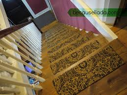 Carpet treads for steps Indoor Stairway Makeover House Home More Make Your Own Carpet Stair Treads Because Liada