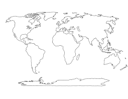 Small Picture World Map Coloring Page And Continents Png On Cut In diaetme