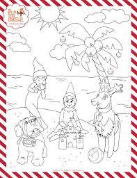 Free Printable Coloring Page Christmas The Elf On The Shelf