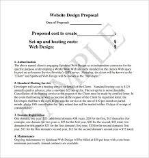 Sample Website Design Proposal Pdf Web Design Proposal Template Word ...