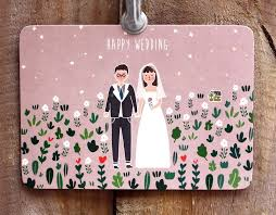 Kerkerland Happy Wedding Postcard Designer Kerkerland Pinkoi