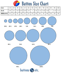 Button Size Chart Sewing A Button Button Crafts