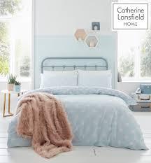 catherine lansfield polka dot easy care duvet cover bedding set duck egg 13 99