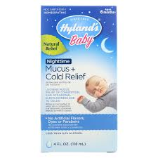 Hylands Baby Nighttime Mucus Cold Relief Natural Relief Of Congestion Occasional Sleeplessness Due To Colds 4 Ounces