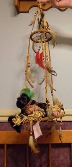 Dream Catcher Dolls Goldenvale Collection Porcelain Baby Native American Sleeping on 24