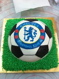 How To Decorate A Soccer Ball Cake Home May'de Cakes The making of Chelsea Soccer cake 51
