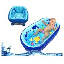 infant bath inflatable baby bathtub cartoon safety inflating bath tub for toddlers swimming pool newborn infant infant bath infant bath tub