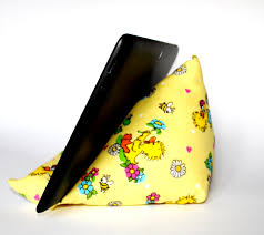 Ipod Pillow Yellow Tablet Pillow For Kids And Children Fabric Ipad Stand