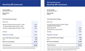 Understanding Your Electricity Bill Ontario Energy Board