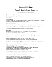 Auto Body Technician Resume Example Technician Engineer Re Stunning Auto Body Technician Resume Example 5