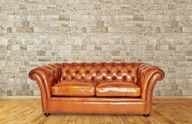 chesterfield sofa leather 2 person 2 5 seater