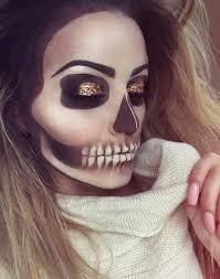 skeleton makeup look for