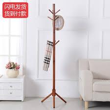 How High To Hang A Coat Rack Beauteous Ha Luo Dayton HALODN Solid Wood Bedroom Living Room Floor Coat Rack