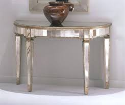 half round foyer table circle console intended for