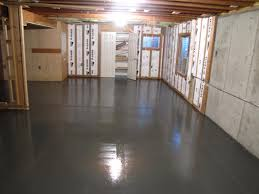 Painted Concrete Floors Best Paint For Concrete Floors In Basement Great Basement Floor