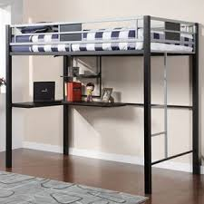bunk bed office underneath. Brilliant Bed Yeomans Contemporary Full Loft Bed With Bunk Office Underneath
