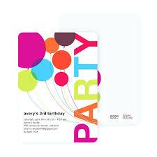 Make Birthday Party Invitations Best Birthday Invitations Rainbow Balloons Birthday Party