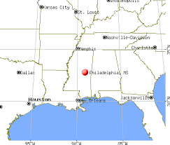 philadelphia mississippi map