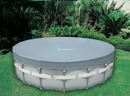 <b>Тент</b> для круглого каркасного бассейна 549см <b>Intex 28041</b> купить ...