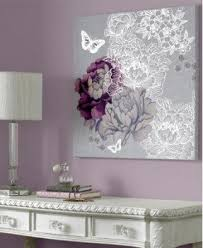 floral metallic wall art canvas