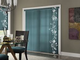 Curtains Sliding Glass Door Panel Track For Patio Door With Roman Shades On Other Windows