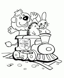 Small Picture Toy Train with Animals coloring page for toddlers transportation