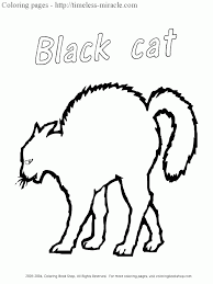 Small Picture Black cat coloring pages