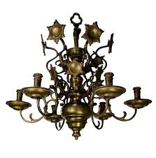 antique flemish brass chandelier 1840s