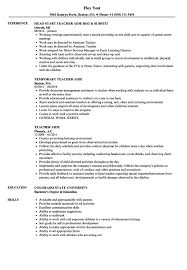 Teachers Aide Resume Examples Internationallawjournaloflondon