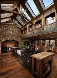 Cabin kitchen design Amazing Architecture Art Designs 15 Warm Cozy Rustic Kitchen Designs For Your Cabin