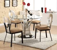 dining room tables round home decor for retro round glass dining table set shelby knox concerning