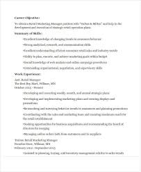 Retail Marketing Resume