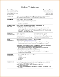 Excel Resume Template 24 College Student Resume Template Microsoft Graphicresume 20