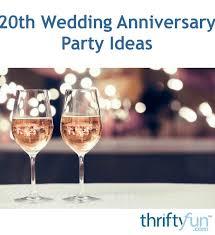 Wedding Anniversary Party Ideas 20th Wedding Anniversary Party Ideas Thriftyfun