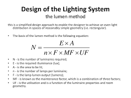 Design Factor Formula Ppt Lighting Design Lecture Powerpoint Presentation Free