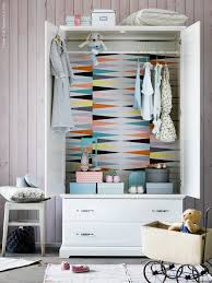how to wallpaper furniture. mommo design diy for a white wardrobe coat the inside with colorful wallpaper how to furniture p