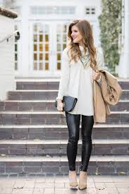 date night outfit with leather leggings and turtleneck