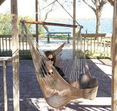 Amazon.com: Mayan Hammock Chair - Large Cotton Rope Hanging Chair ...