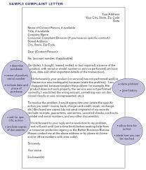 Letter Of Complaints Sample Complaint Letter Template